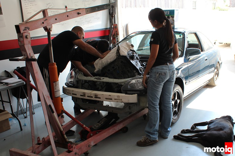 Honda Civic EJ: Koyo All Aluminum Racing Radiator and HPS Silicone Hoses