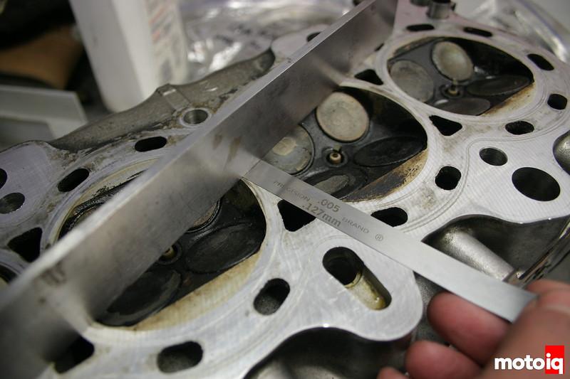Project Honda Civic EJ EK cylinder head B18c1 engine block port flow port and polish how to measure high compression long rod flatness inspection