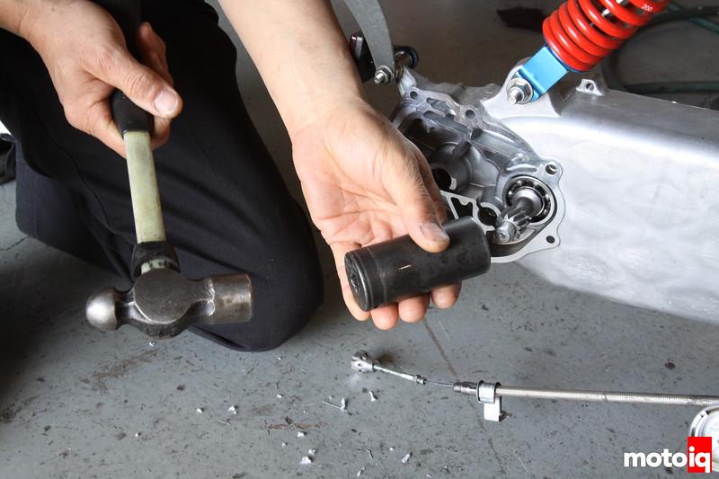 Kitaco honda ruckus gear install