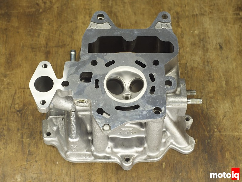 Project Honda Ruckus cylinder head combustion chamber