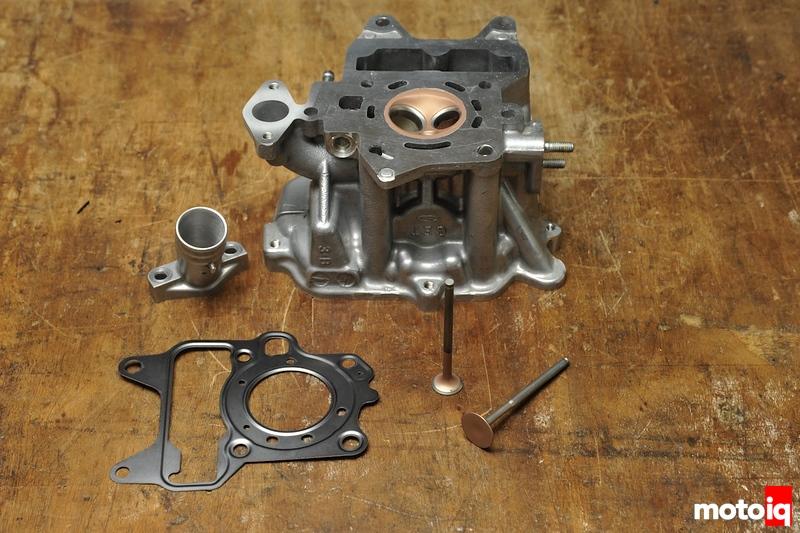 Honda Ruckus modifed ported and coated head