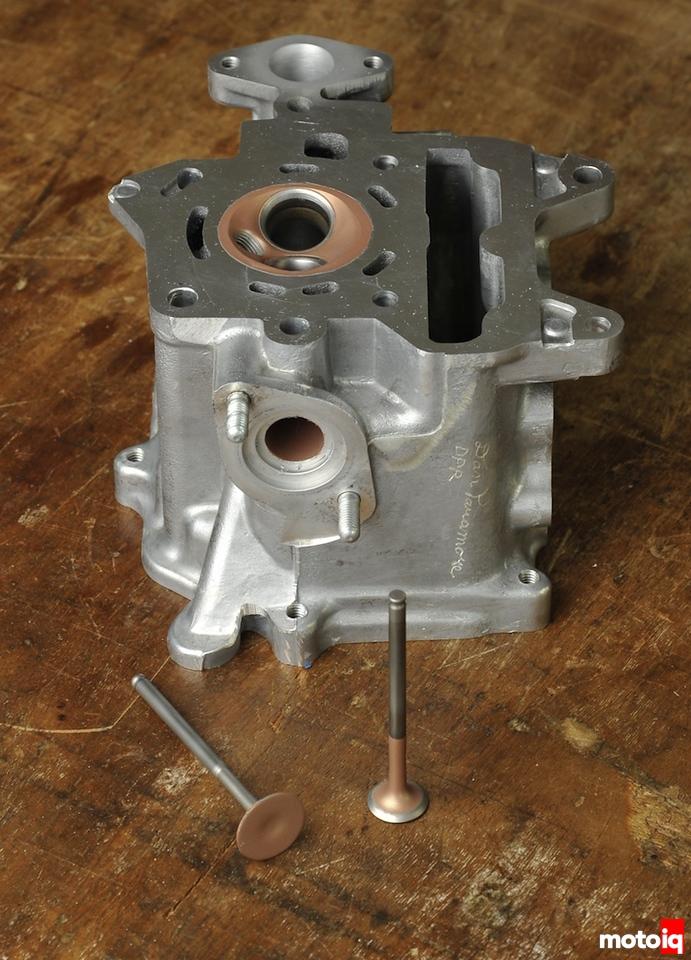 Coated Honda Ruckus head and valves