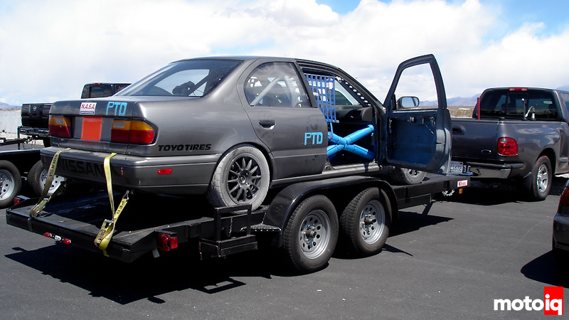 Project Infiniti G20 Racecar Trailer Loaded