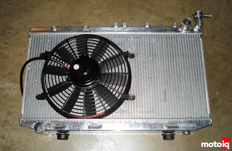 "Project Infiniti G20 Racecar Koyo Radiator 12"" slim fan"