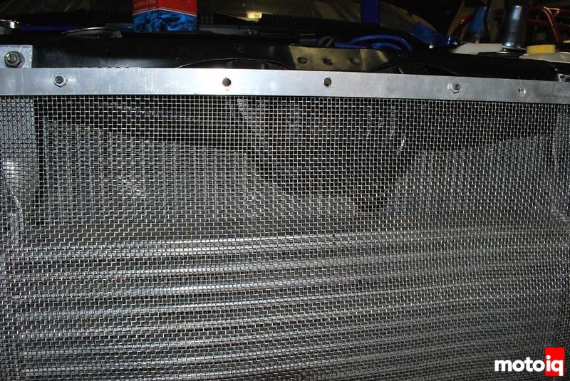 Project Infiniti G20 Racecar FOD screen radiator intercooler koyo