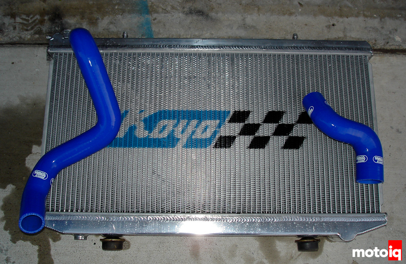 Project G20 Racecar Reliability Koyo radiator samco hoses
