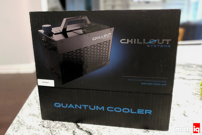 Chillout Systems quantum cooler box on the counter