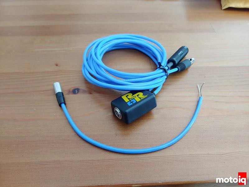 blue and black wired racing radios radio kit box