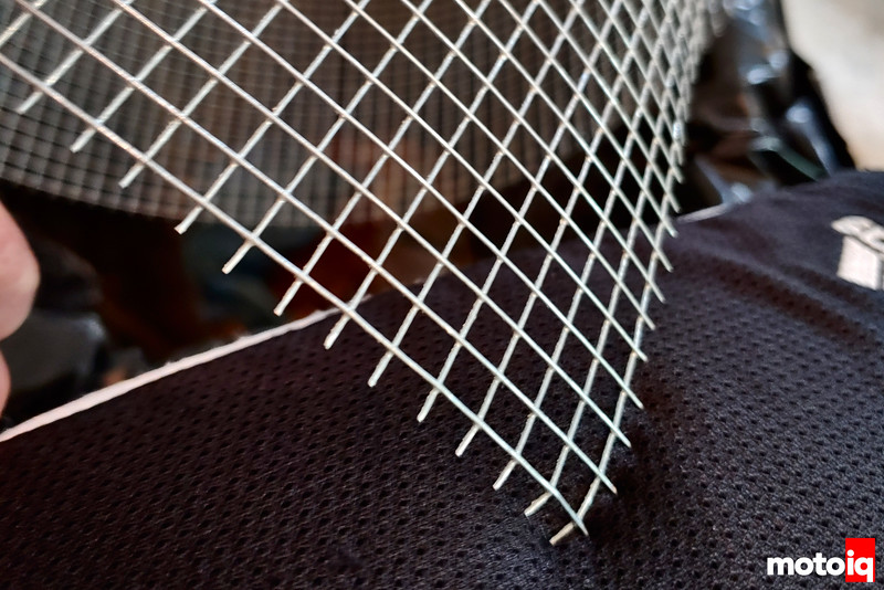 spiky looking cut but un-cleaned piece of mesh