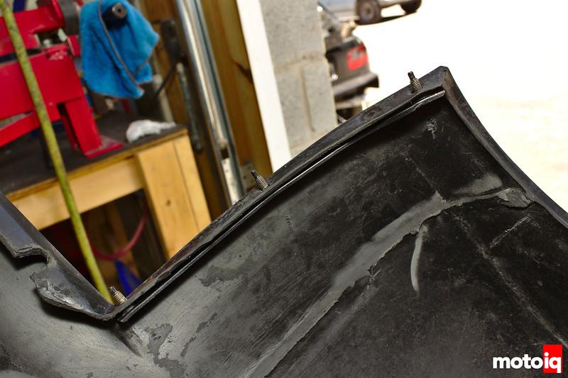 stud strip inserted into rear bumper