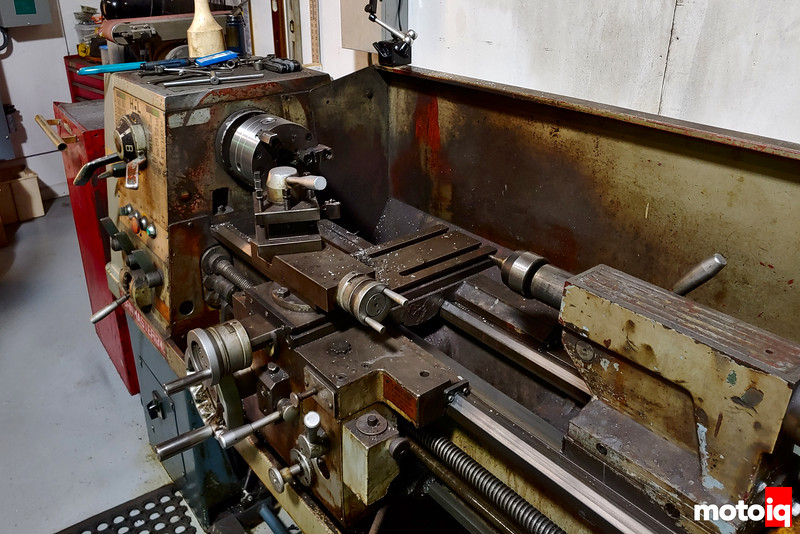 Really large vintage, well worn, and well used lathe