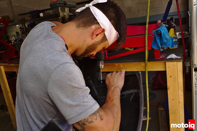 drilling holes into rear bumper