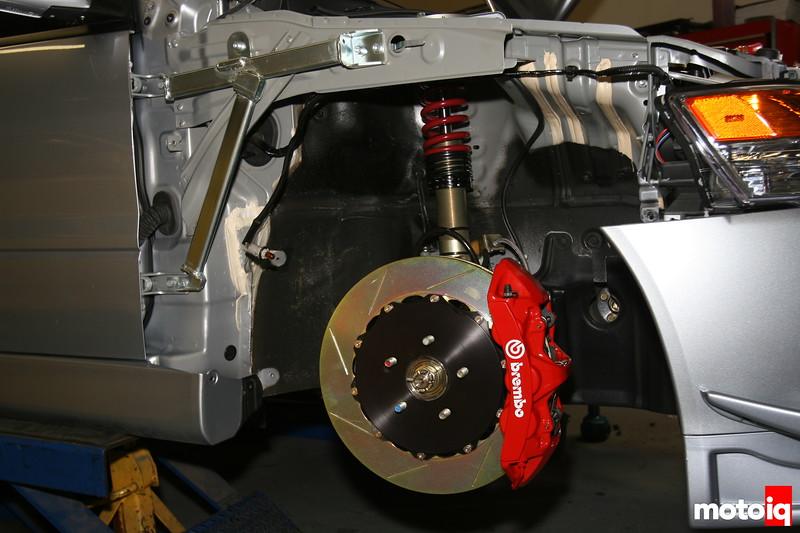Brembo front brake system for mitsubishi evo