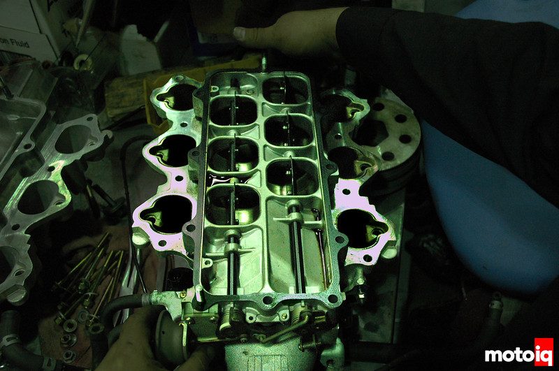 NSX intake manifold stock VVIS plate