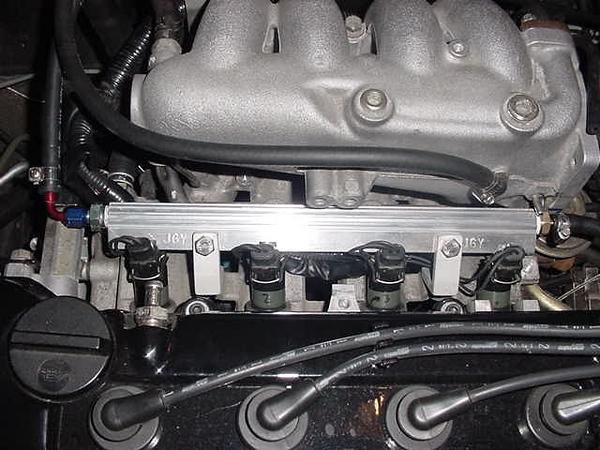 ga16de turbo project 200sx evil twin notnser jgy top feed fuel rail