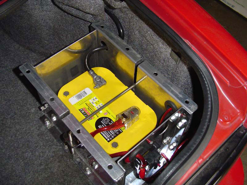 Battery Relocated to Trunk