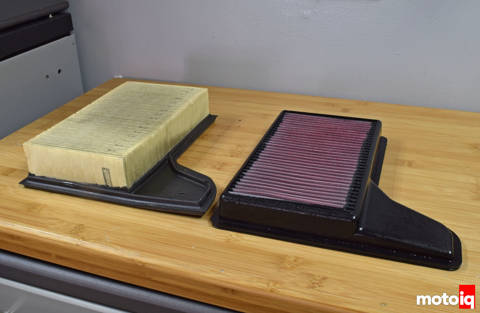 Mustang GT air filter comparison K&N filter