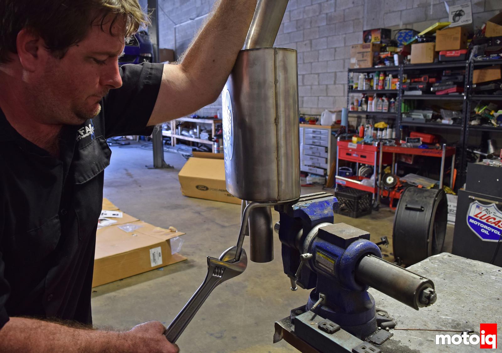 Will at RareFab bending FP Exhaust bracket