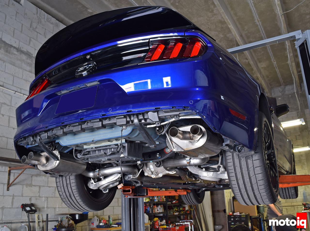 2015 Mustang GT Ford Performance GT350 muffler installed