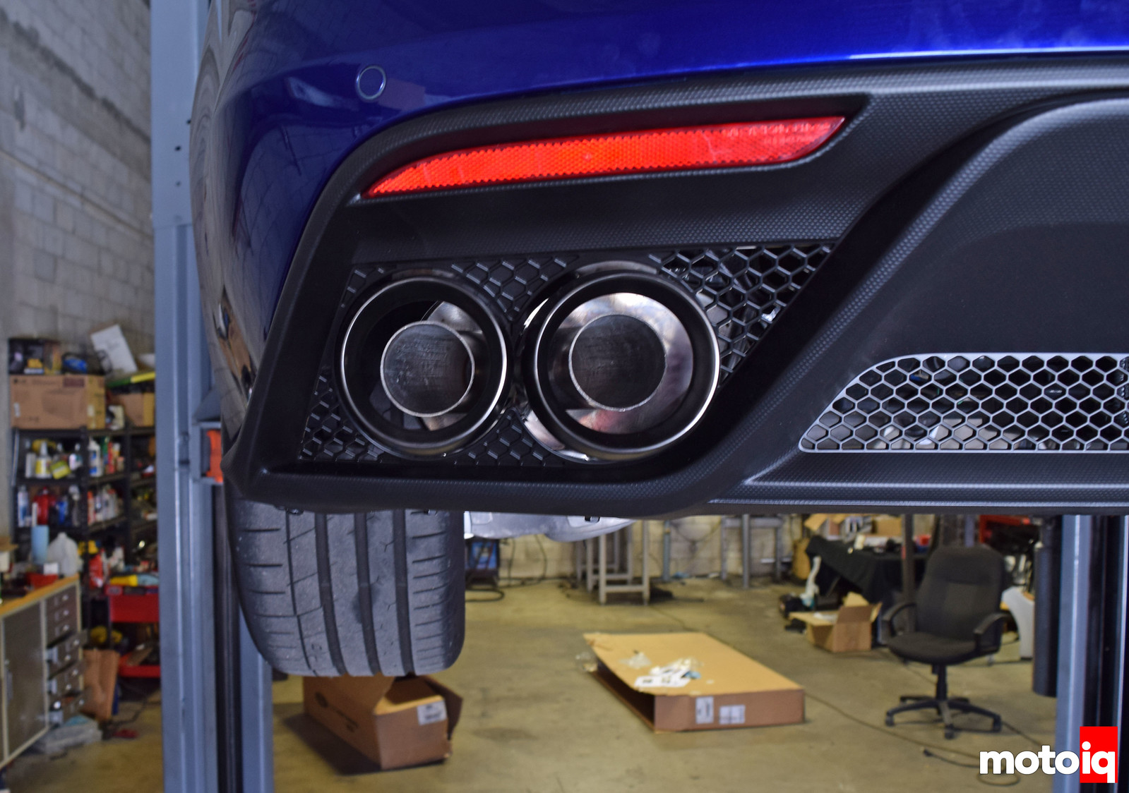Shelby GT350 Valence Ford Performance Exhaust lined up
