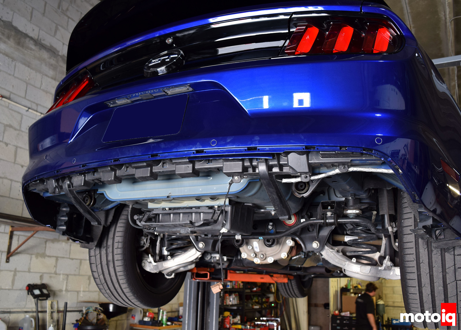 2015 Mustang GT rear diffuser cut off