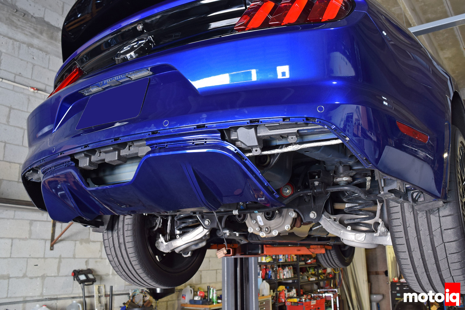 2015 Mustang GT rear valence removed