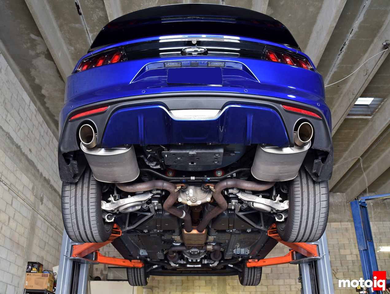 Stock S550 Mustang GT Exhaust