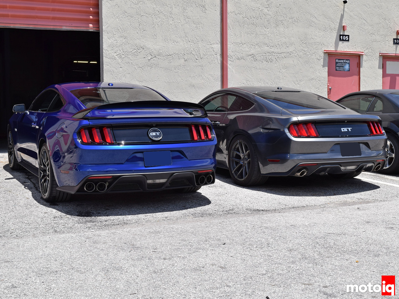 Shelby GT350 lower valence and R wing vs stock