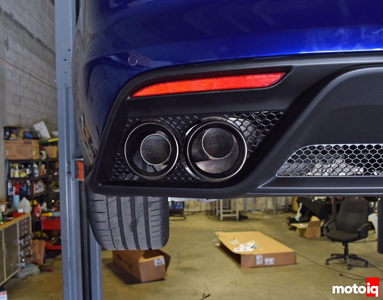 GT350 FP exhaust muffler mis aligned