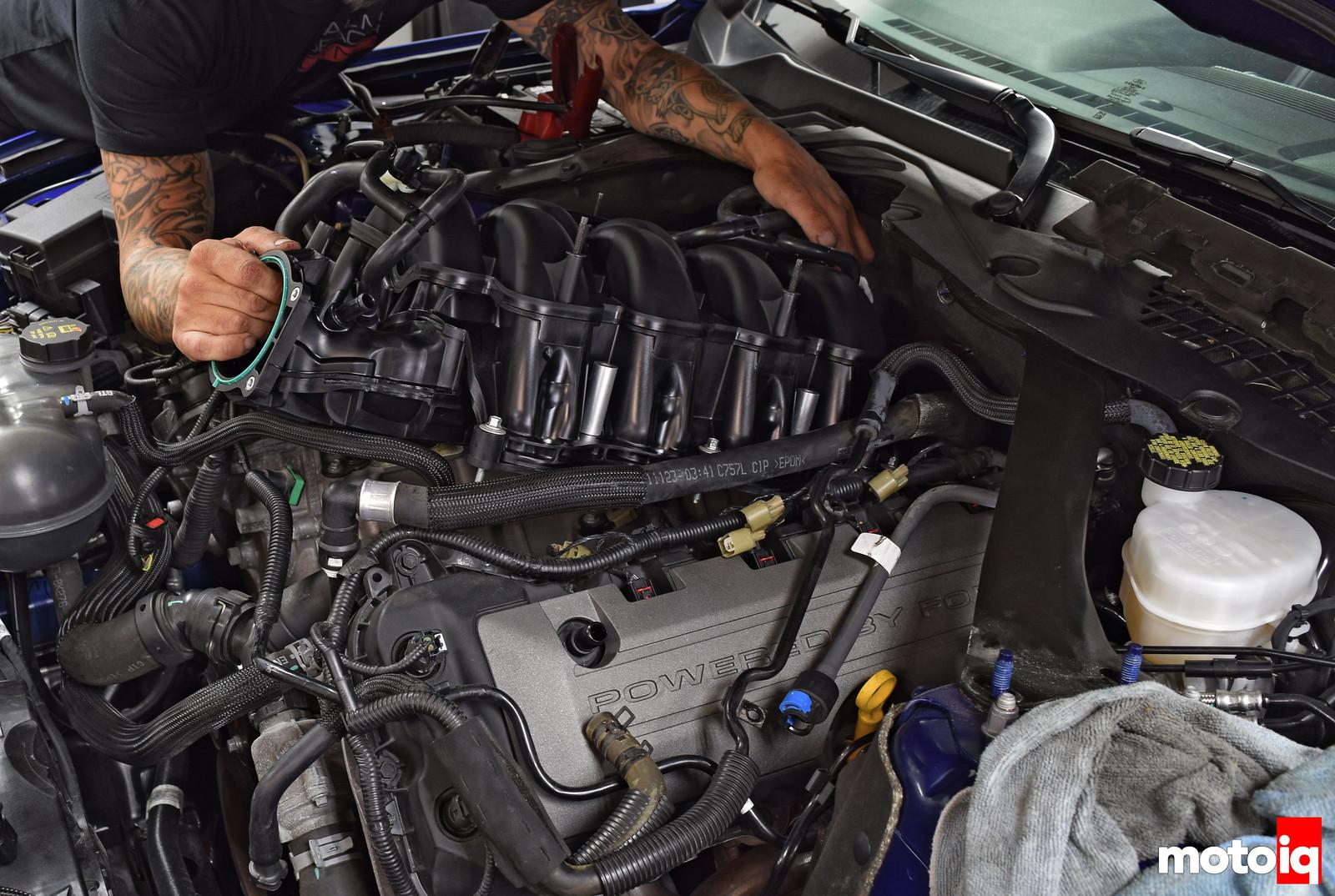 Mustang GT GT350 intake manifold install