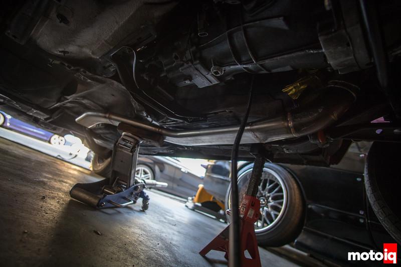 Mocking up BMW E30 SR20DET exhaust