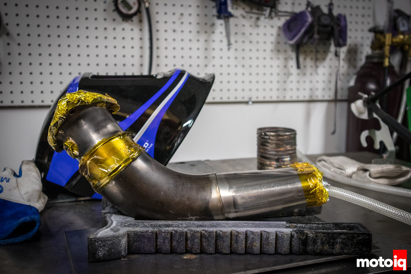Back purging an exhaust pipe