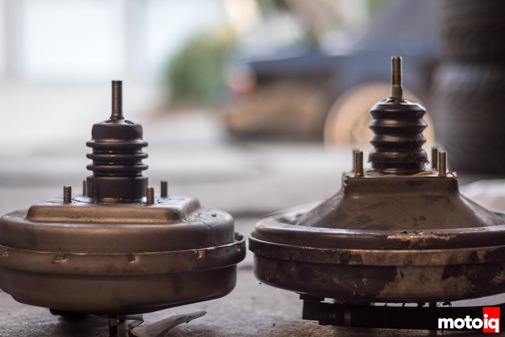 BMW E30 vs modified VW Fox brake booster comparison
