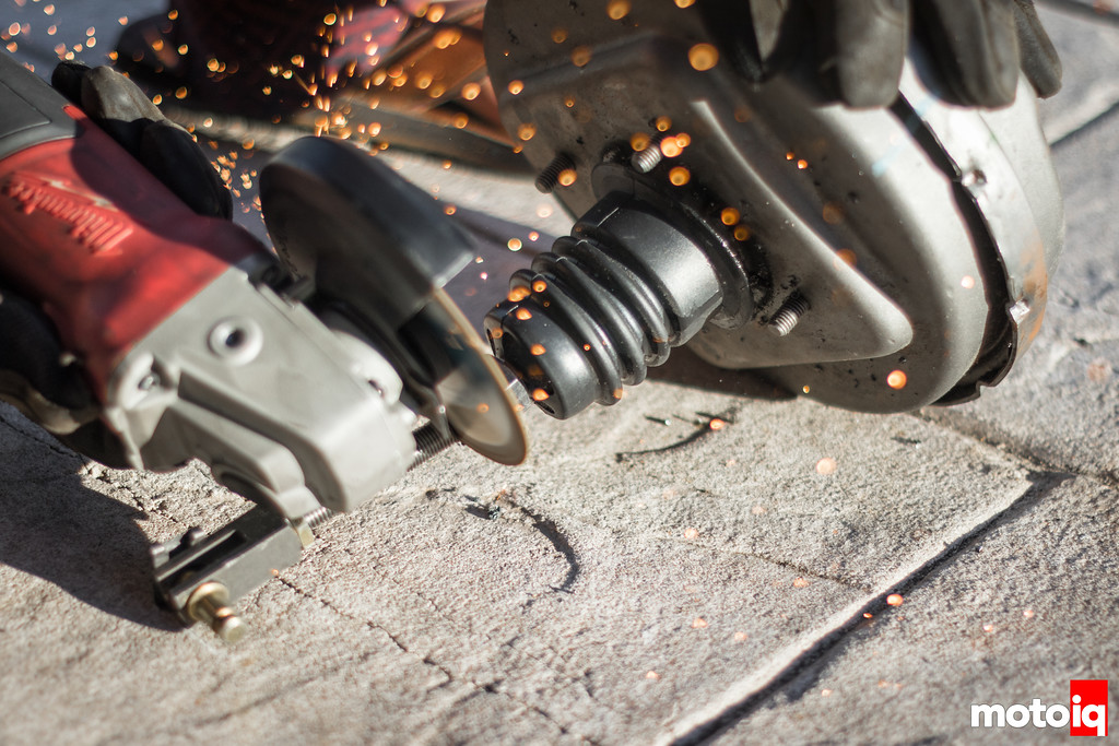 Cutting off brake booster actuator shaft