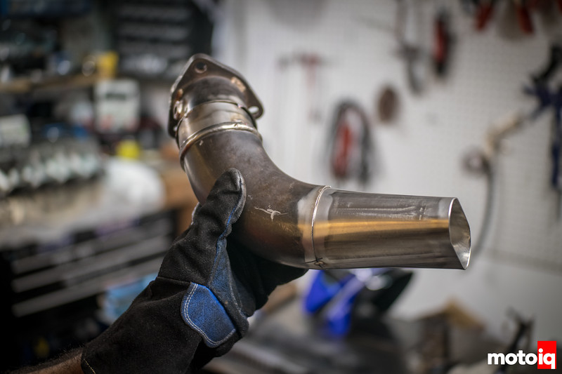 RB25 Downpipe Modified to fit an SR20 swapped BMW E30