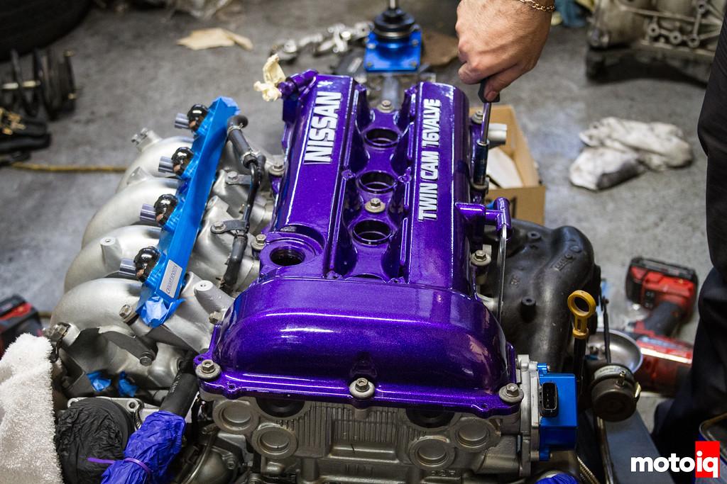 Purple SR20 valve cover