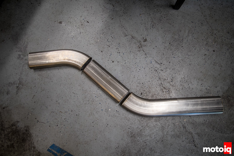 BMW E30 stainless oval exhaust fabrication