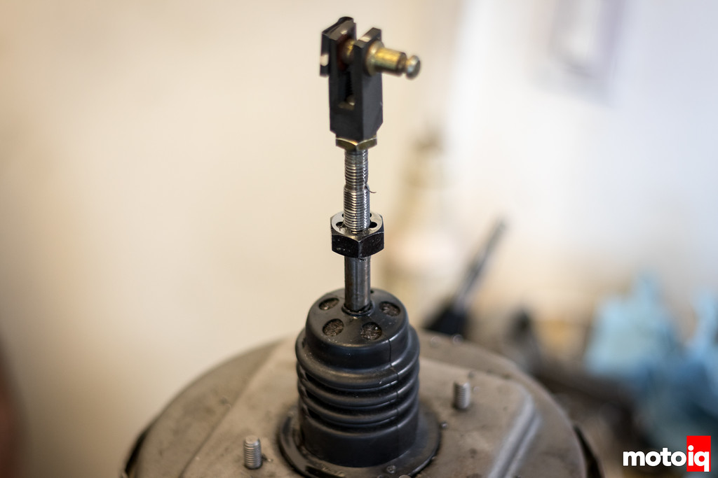 Brake booster with a die on it