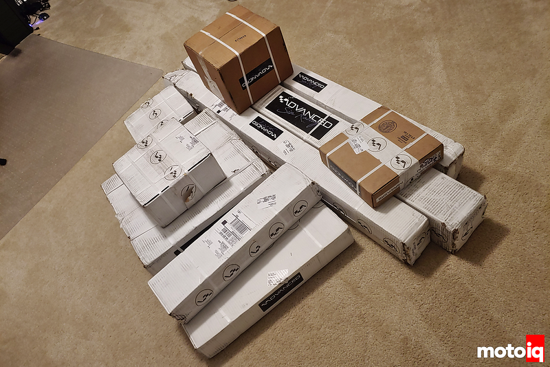 pile of cardboard boxes of various sizes