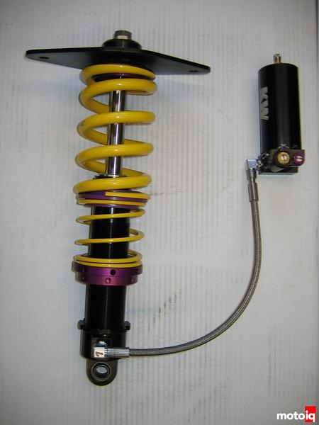 front KW 3-Way adjustable front shock assembly for Nissan Sentra Spec-V