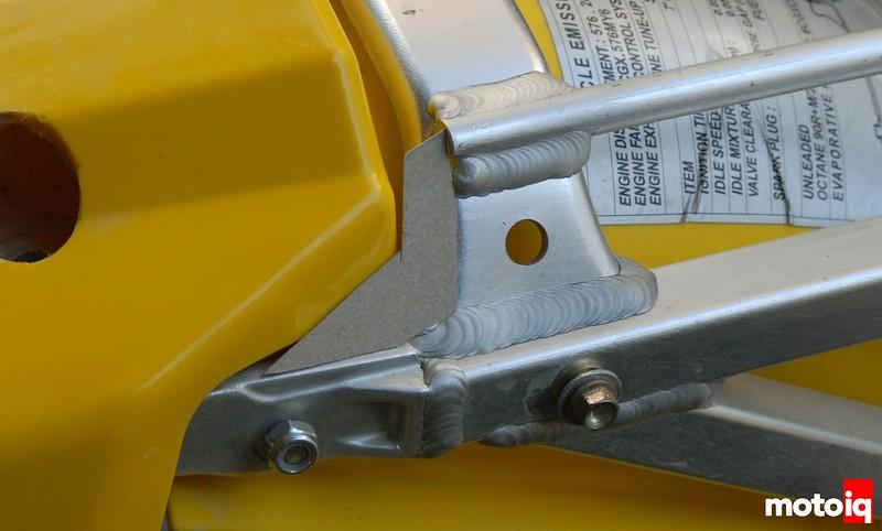 TE610 subframe luggage rack gusset reinforcement