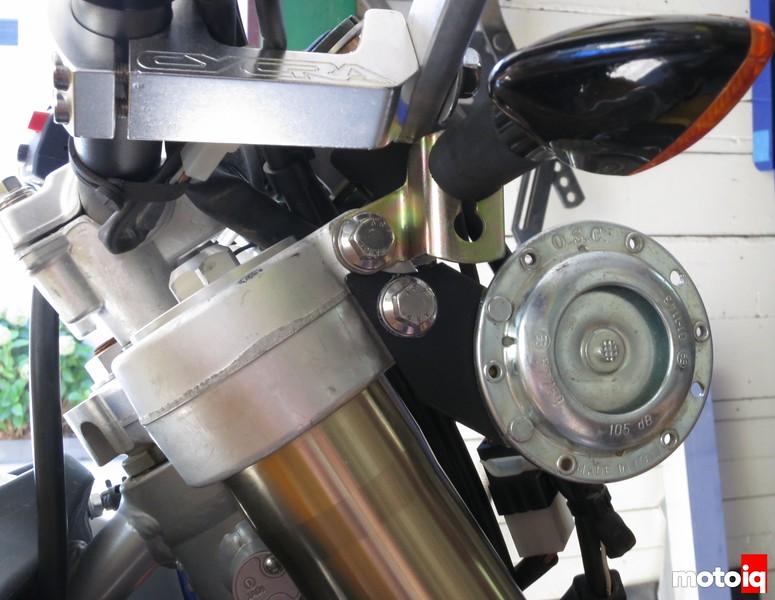 TE610 Baja Designs racelight horn relocation