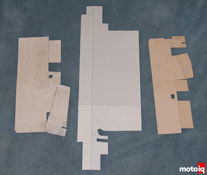 Miata Volvo intercooler radiator shroud templates