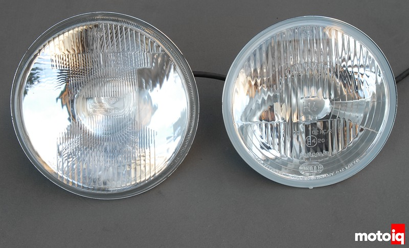 TE610 Baja Designs racelight halogen Boatman H4 comparison