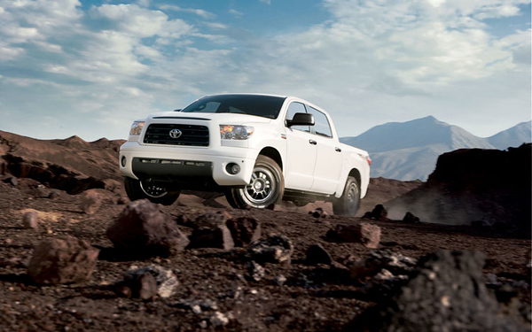 Toyota Tundra TRD Rock Warrior. The Rock Warrior package has a TRD tuned off