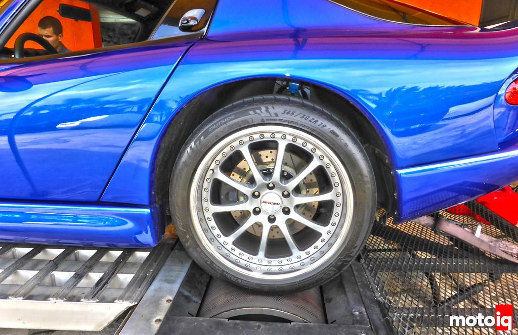 Viper GTS Dyno Rear Tire Close