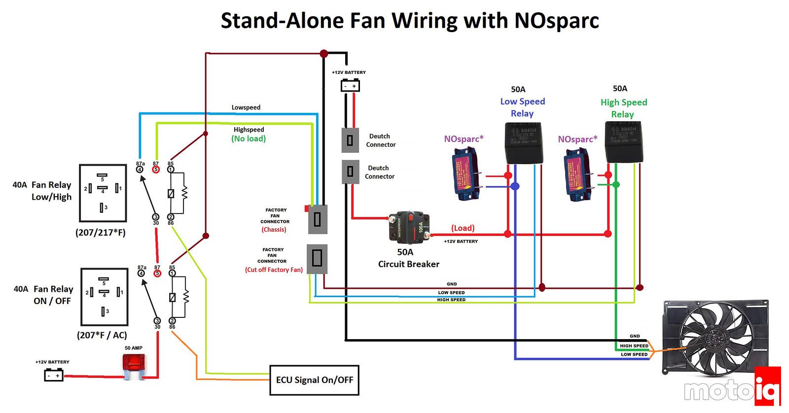 NoSparc Fan Wiring Schematic