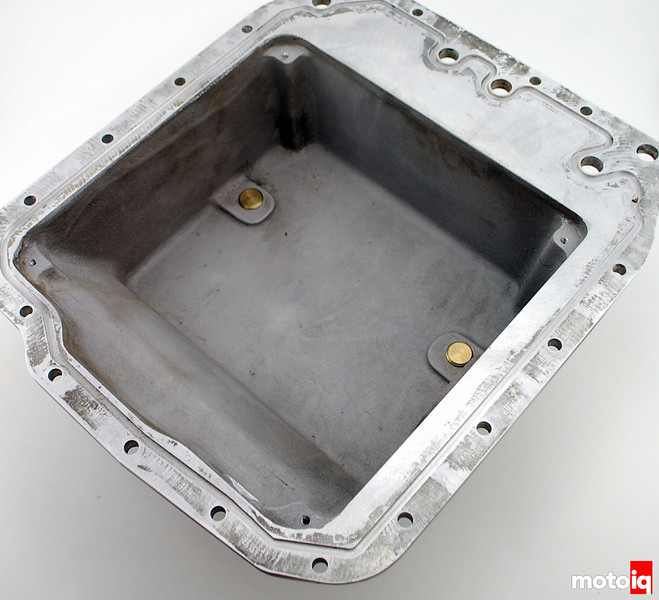 inside oil pan no windage tray