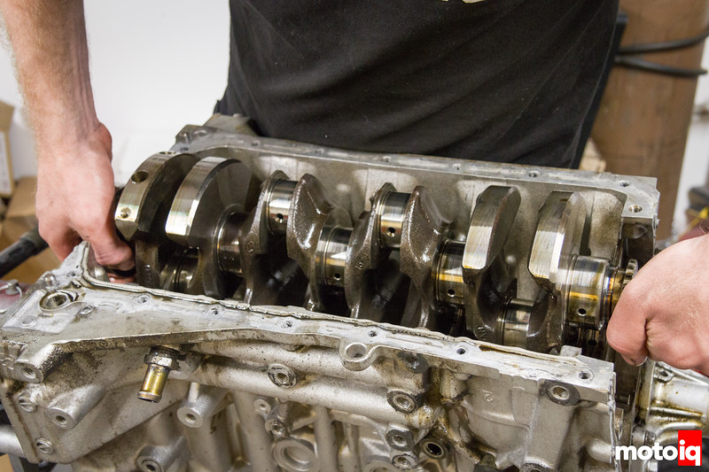 Removing SR20 crank