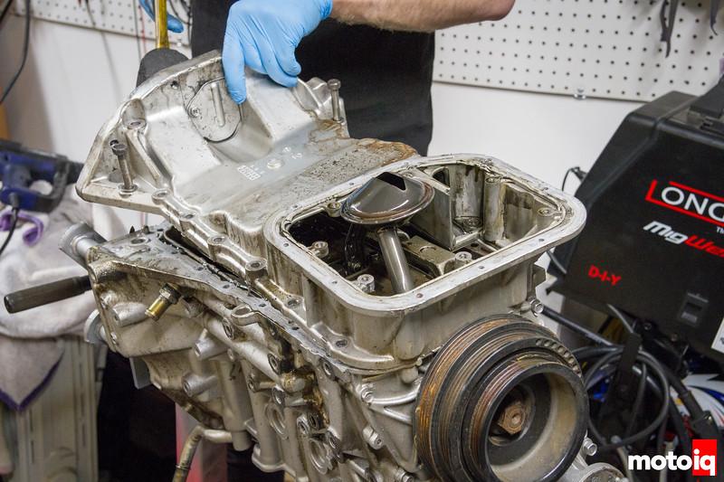 Removing SR20 upper oil pan